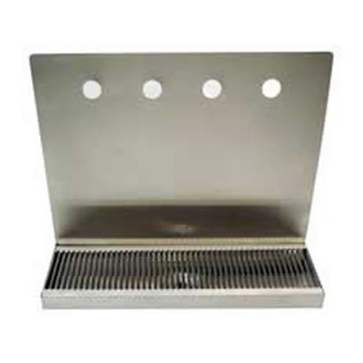 Wall Mount Stainless Steel Drip Tray (Multiple Sizes)