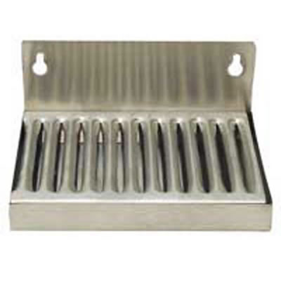 "Wall Mount Drip Tray - 6"" X 4-1/2"" with 2"" Backsplash"