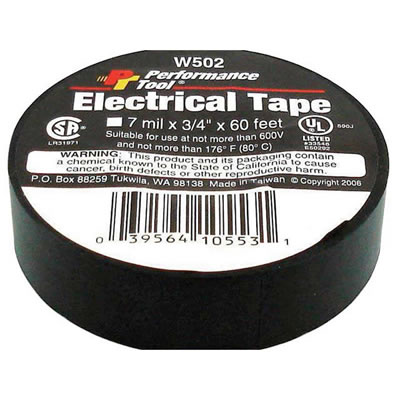 "Electrical Tape - 3/4"" X 60' (Black)"