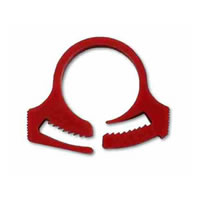 "Kwik Clamp Hose Clamp - 5/16"" (red)"