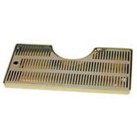 Mushroom Style Drip Tray with Drain (Stainless Tray)