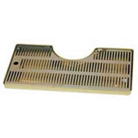 Mushroom Style Drip Tray with Drain (Brass & Stainless)