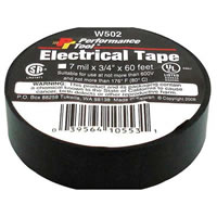 "Electrical Tape - 3/4"" X 60' (Black) /"